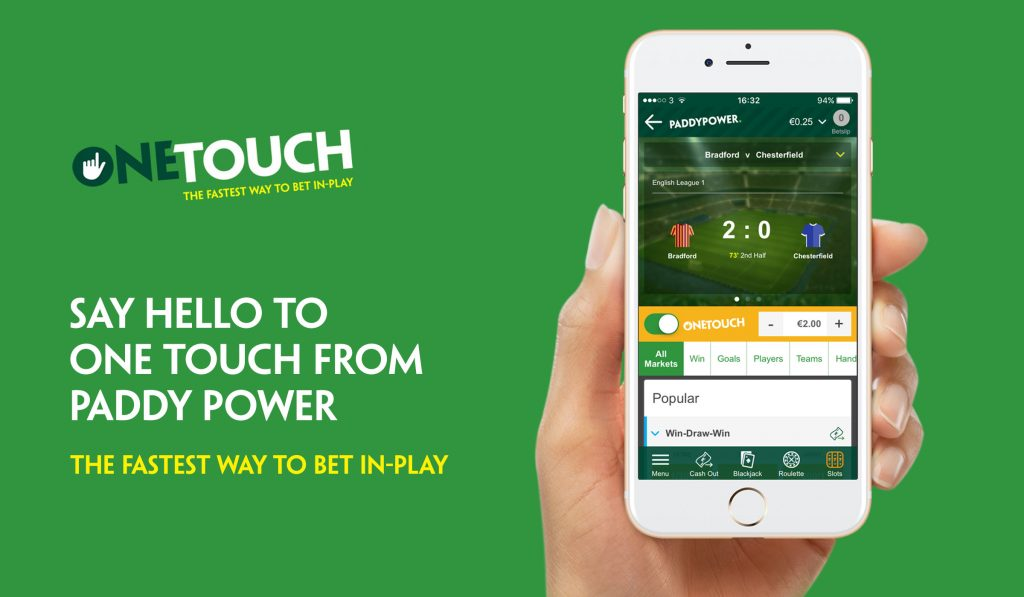 paddy power one touch betting app