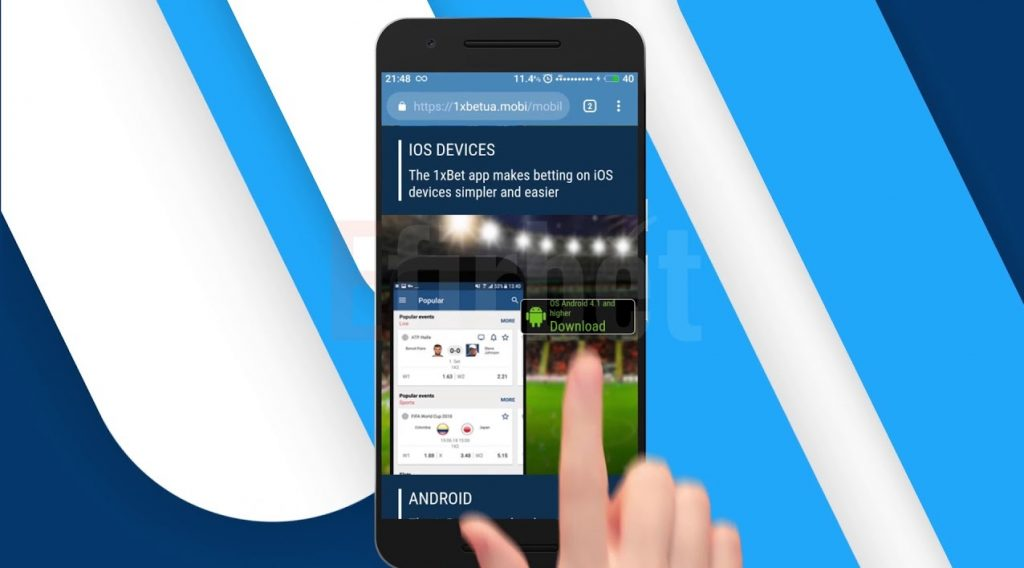 1xBet Mobile App Android & iOS