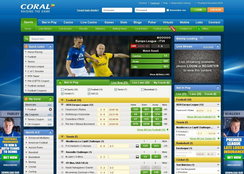 Coral Ladbrokes Website Review