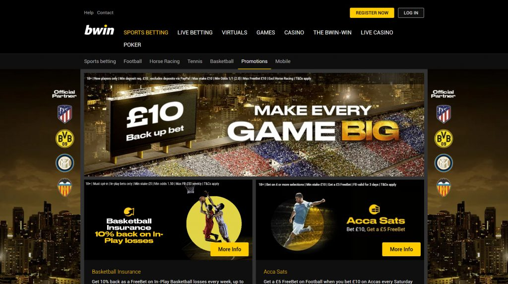 bwin offers promotions bonuses