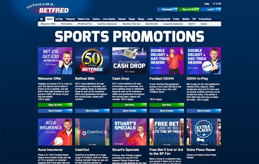 Betfred offers & promotions