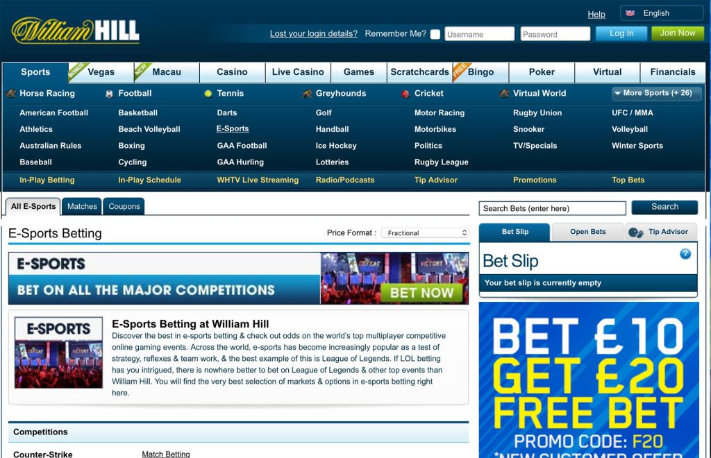 William Hill Website Review