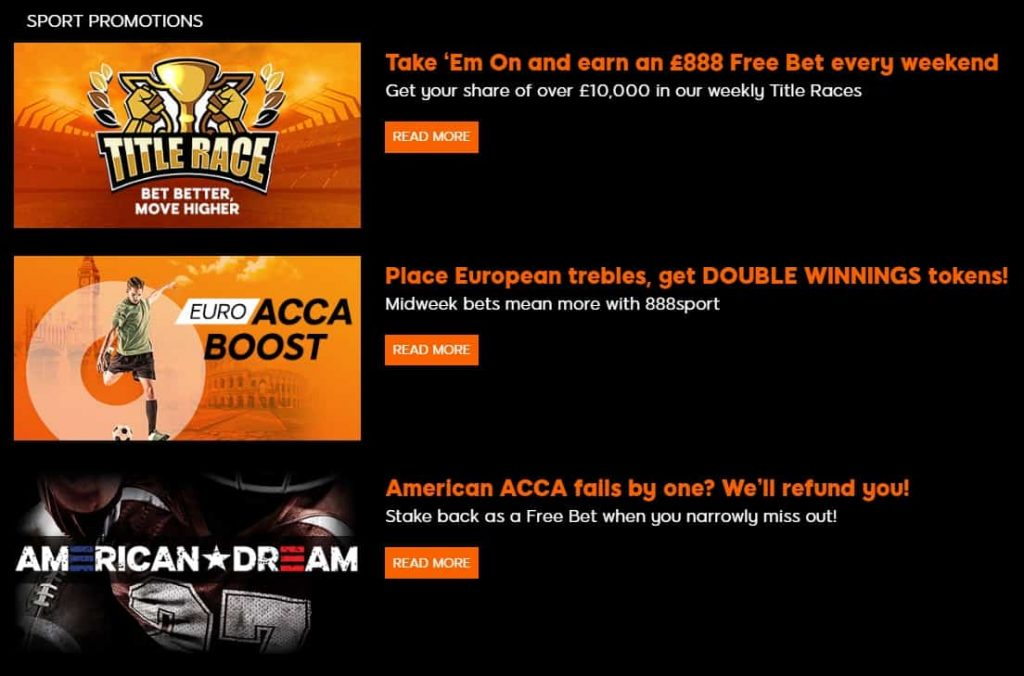 888 Sport Betting Offers & Promotions