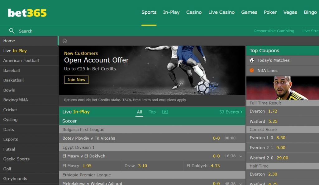 bet365 Website Review