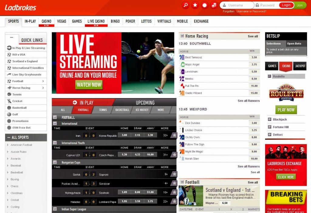 Ladbrokes Sportsbook Odds & Markets