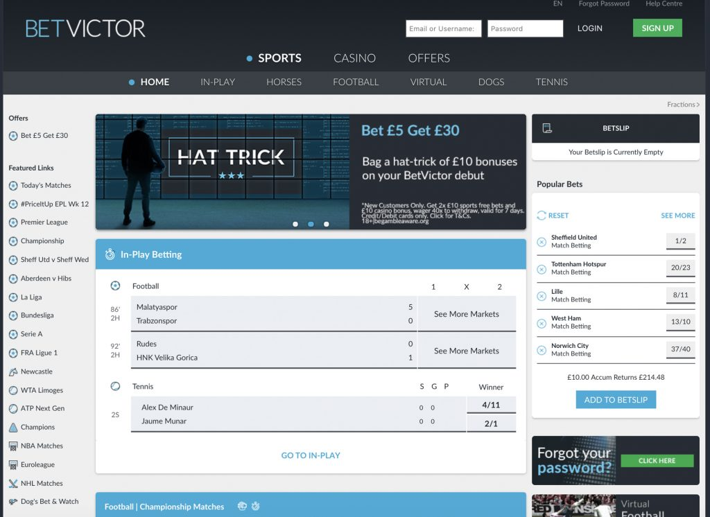 Betvictor Bookmaker Review