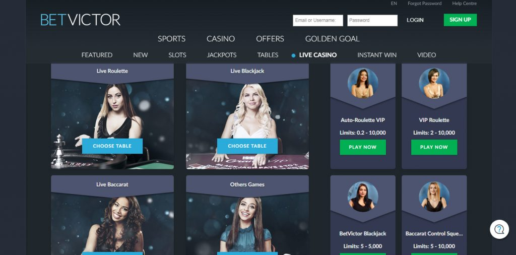Betvictor Online Casino Review