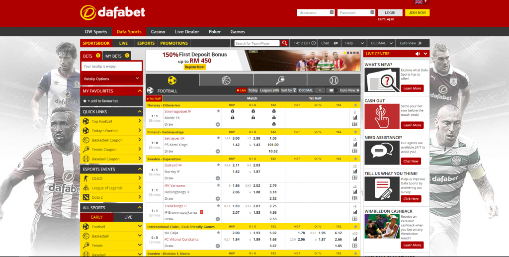 Dafabet Sports Review