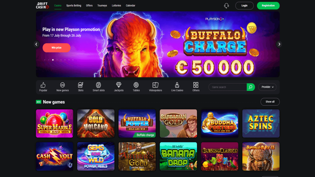 Drift Casino Screenshot