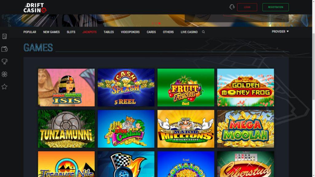 Drift Online Casino Review