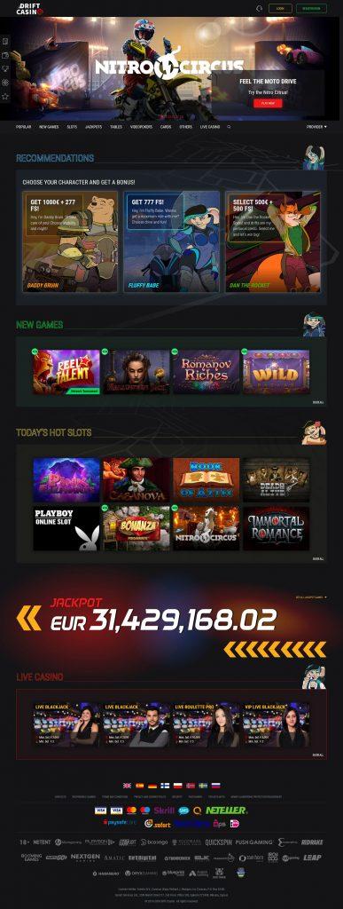 Drift Casino Mobile App Review