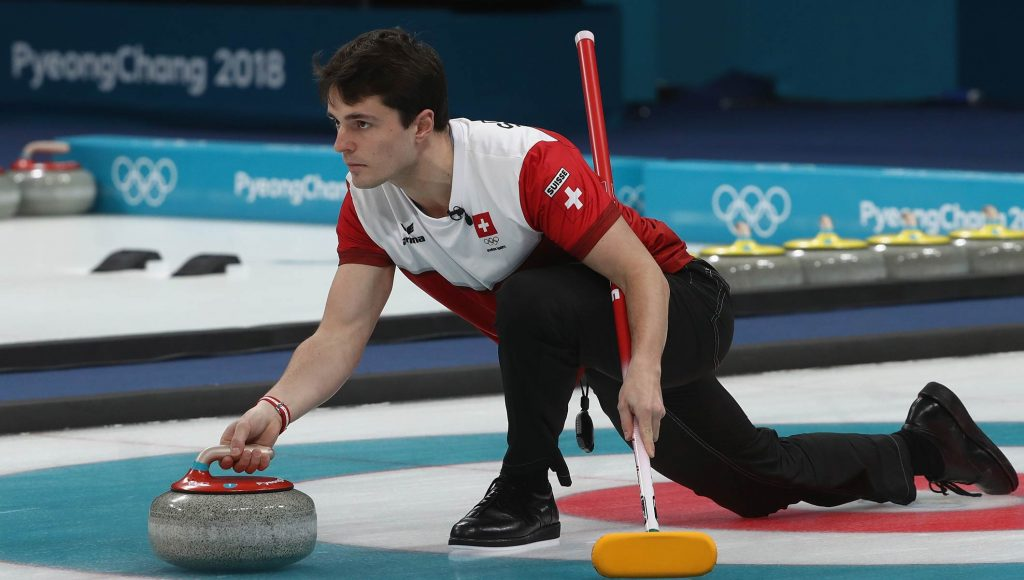 Winter Olympics Curling Player